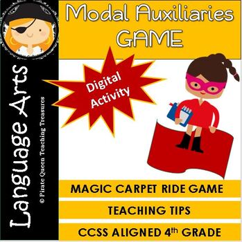 MODAL AUXILIARIES GAME CCSS Aligned 4th Grade Up