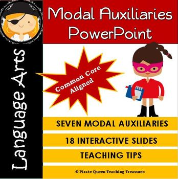 MODAL AUXILIARIES PowerPoint CCSS Aligned 4th Grade Up