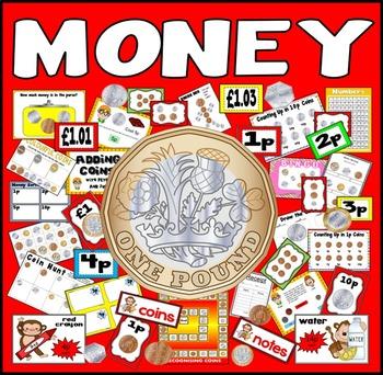 MONEY RESOURCES UK £ POUND MATHS NUMERACY GAMES FLASHCARDS