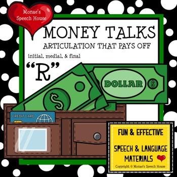 MONEY TALKS ARTICULATION SPEECH THERAPY