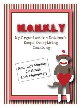 Sock Monkey MONKEY Binder