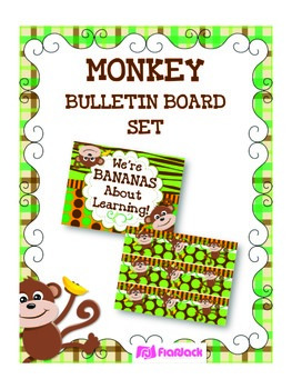 MONKEY Bulletin Board Set Display