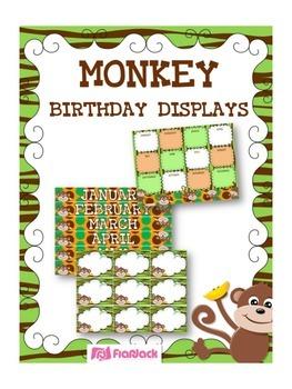 MONKEY Themed Birthday Displays