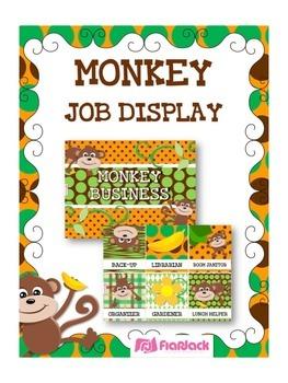 MONKEY Themed Student Jobs Display