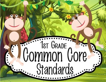 "MONKEYS - 1st Grade Common Core Standards ""I CAN"" format /"
