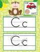 MONKEYS - Alphabet Cards, Handwriting, ABC Flash Cards, AB