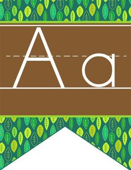 MONKEYS - Alphabet Flag Banner, handwriting, A to Z, ABC p