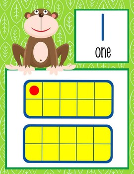 MONKEYS - Number Line Banner, 0 to 20, Illustrated