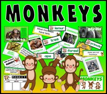 MONKEYS PRIMATES TEACHING RESOURCES KEY STAGE 1-2 SCIENCE