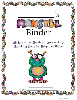 MONSTER BINDER HOMEWORK BINDER