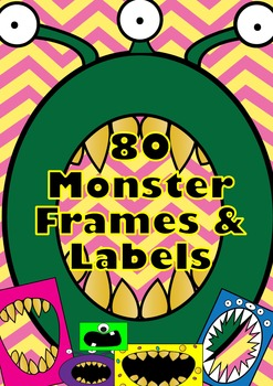 MONSTER theme Clip Art Frames & Labels