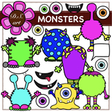 MONSTER Digital Clipart (color and black&white)