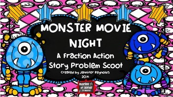 MONSTER MOVIE NIGHT--A FRACTION ACTION SCOOT ACTIVITY