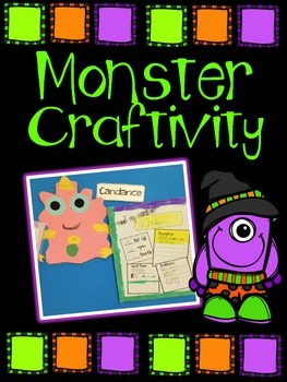 MONSTER craftivity and writing -Detail writhing great for