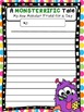 MONSTERRIFIC FREEBIE narrative and descriptive writing- My
