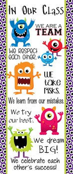 MONSTERS - Classroom Decor: LARGE BANNER, In Our Class