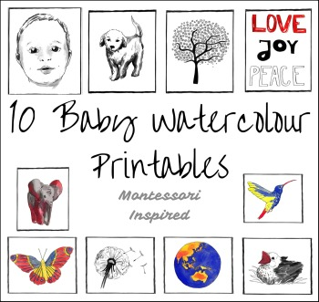 MONTESSORI BABY WATERCOLOUR ART CARDS