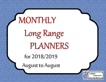 MONTHLY Long Range Planners 2016/2017