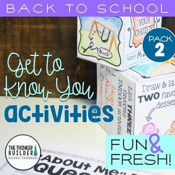 """Back to School Activities """"Get To Know You"""": Fun & Fresh!"""