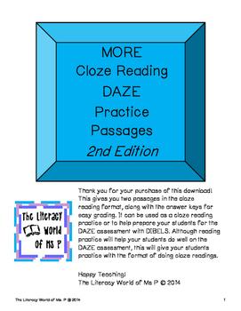 Pack 2 DAZE Assessment Practice Passages