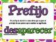 MORPHOLOGY Workstation - in SPANISH!
