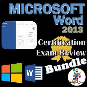 MOS Microsoft Word 2013 Certification Exam Review Bundle -