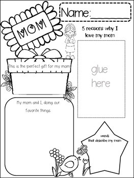 MOTHERS DAY {{quick topics}} one interactive worksheet