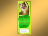 MOTIVATIONAL BOOKMARK FROM THE CAT