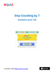 MQUIZ - Skip Counting by 7 - Numbers up to 100