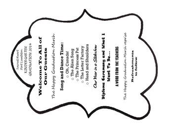 MRS FDK DOYLE IDEAS: Kindergarten Graduation Fan Programme