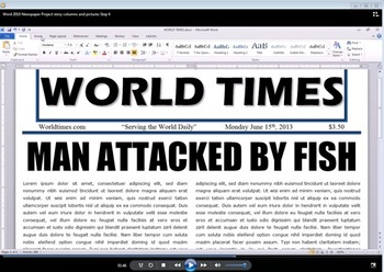 Microsoft Office Word Newspaper Project Video Directions