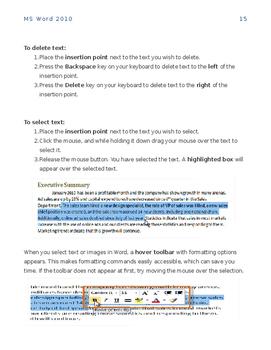 MS Word 2010 Manual