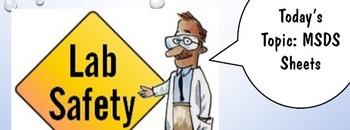 MSDS Lab Safety Activity, PowerPoint, Worksheet, Junior Hi