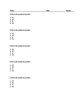 MSP Test Template