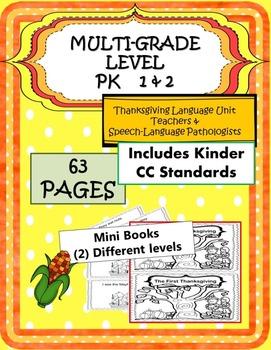 MULTI-GRADE 63 pgs Thanksgiving Language UNIT PK 1 2 Commo