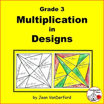 MULTIPLICATION | Color by Number Geometric Designs | Color