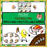 MULTISYLLABLE FREEBIE: Getting Sporty WITH 3, and 4 MULTIS