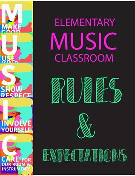 MUSIC Classroom Expectations Printables (set of 5)
