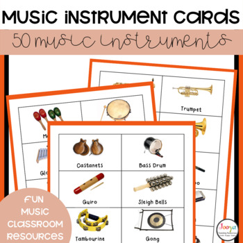 MUSIC - 50 Music Instrument Picture Cards