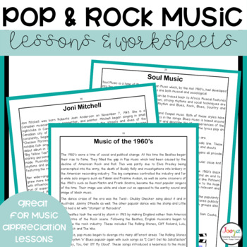 MUSIC: Kings and Queens of Rock and Pop with Reading Strategies