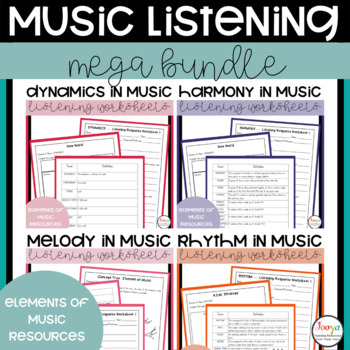 MUSIC - Mega Bundle of Listening Activities