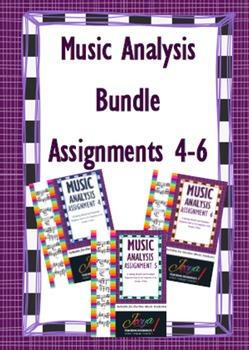 MUSIC: Music Analysis Assignment 4-6 Bundle SENIOR VERSION