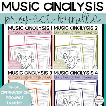 MUSIC - Music Analysis Assignments Complete Bundle 1-6