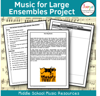 MUSIC - Music for Large Ensembles - Unit of Work for Elect