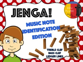 TREBLE & BASS CLEF - JENGA (NOTES IDENTIFICATION)