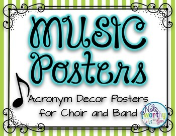 MUSIC Posters {Acronym Music Decor Posters for Band, Choir