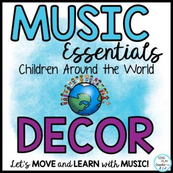 Back to School Music Class World Theme Decor Bulletin Boar