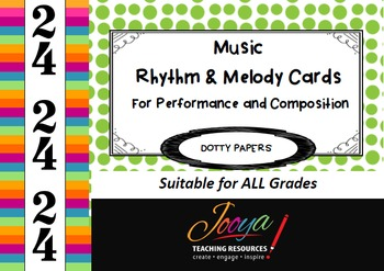 MUSIC- 2/4 Rhythm and Melody Cards for Performance and Com