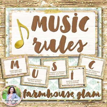 MUSIC Rules Posters {Rustic Glam}