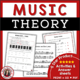 MUSIC: Theory Worksheets Pack